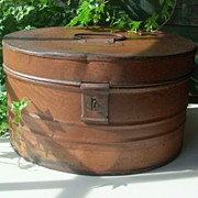 Antique Tin Spice Carrier - Large - Original Grain Painting