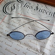 Antique Reading Glasses - Blue Lenses