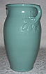 McCoy Aqua Large Double Handle Vase - Berries and Leaves