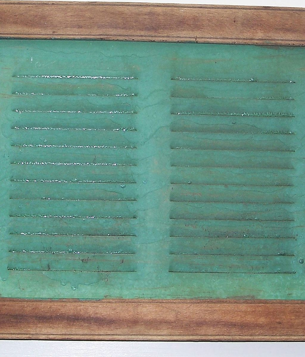 Primitive Window Screen in Green Paint