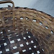 Basket - Antique Field or Gathering Basket - Round