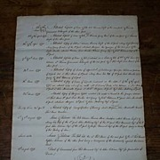 Massachusetts Document (1790)