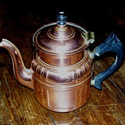 Art Deco Copper Tea Pot - Five Cups