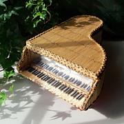 Matchstick Piano Jewelry Box - American Folk Art