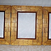 Matchstick Triple Frame - Folk Art