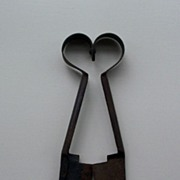 SOLD Primitive Sheep Shears - Heart Style Handle