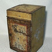 Primitive Tin Pie Safe in Original Paint