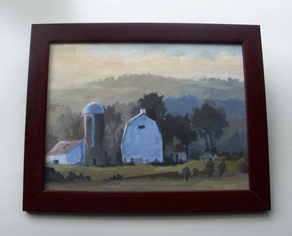Plein Air Painting by Don Bishop - Winter Farm