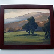 Plein Air Painting by Don Bishop - Winter Light