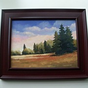 Plein Air Painting by Don Bishop - Twilight Timber