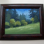 Plein Air Painting by Don Bishop - Jenkins Meadow