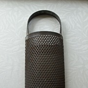 Primitive Large Tin Cheese Grater - Heart Design