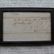 Antique Document - Newburyport, Mass. for Thomas Brown