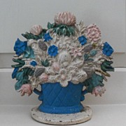 Vintage Flower Basket Doorstop
