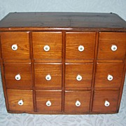 Antique Spice Chest Cabinet - Twelve Drawers
