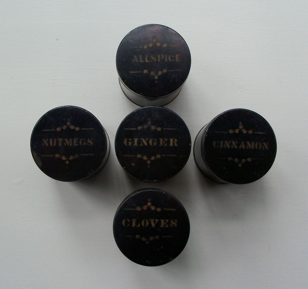 Black Spice Tins - Set of Five