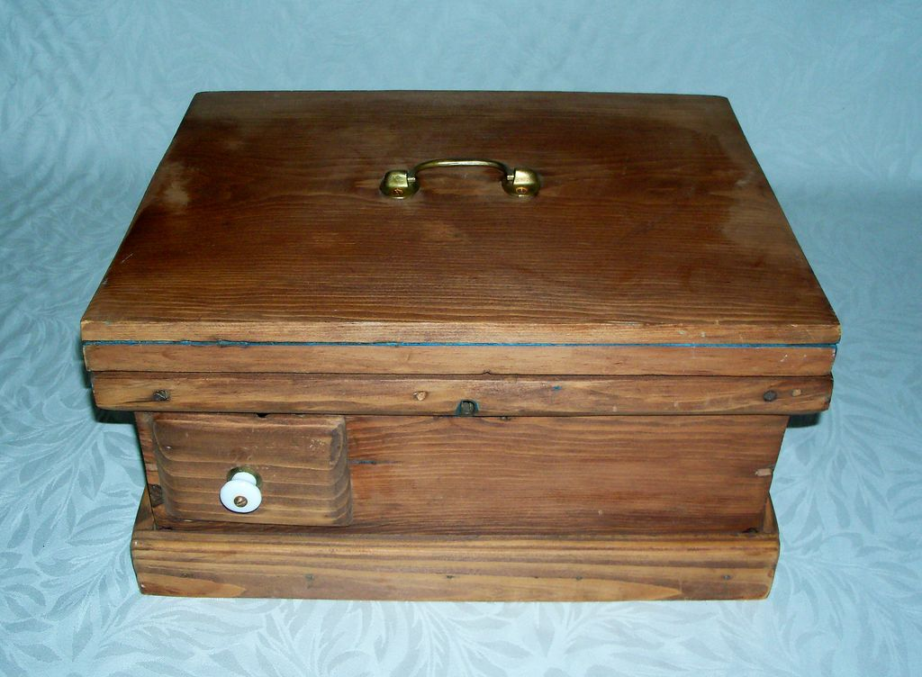 Antique Document Box with Drawer