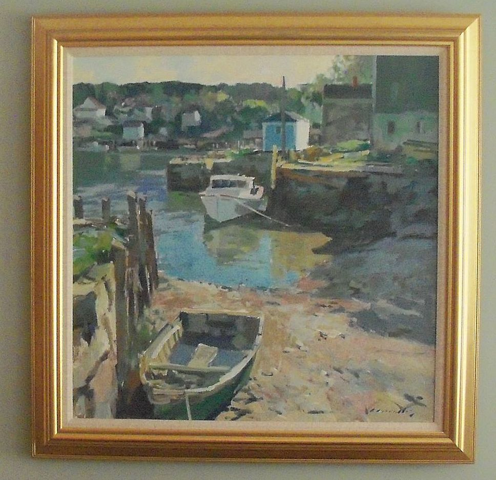 "Charles Movalli  ""Low Tide""  New England Artist"