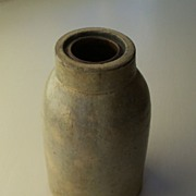 Antique Stoneware Salt Glaze Preserve Jar