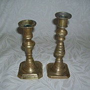 Brass Candlesticks - Push Up Design
