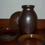 Antique Redware Canning Crock