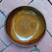 Antique Redware Glaze Plate - 7 1/4&quot; - Rolled Blended Glaze
