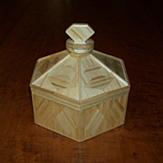 Matchstick Dome Covered Box - Star and Diamond Design