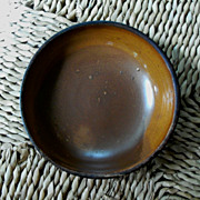 Antique Redware Glaze Plate - 7 1/2""