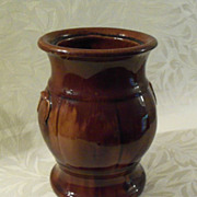 Antique Rockingham - Bennington Pottery Container - Urn Shape