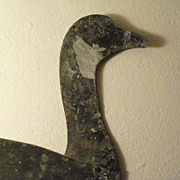 Canada Goose Tin Shadow Decoy - American Folk Art