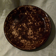 Antique Rockingham - Bennington Pottery Pie Plate - 9 1/2""