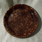 Antique Rockingham - Bennington Pottery Pie Plate - 9 1/4""