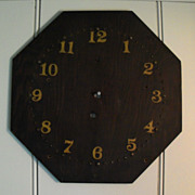 Antique Primitive Clock Face