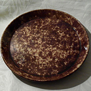 Antique Rockingham - Bennington Pottery Pie Plate - 9 3/4""