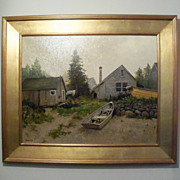 Harley Bartlett � Oil on Linen � �Island Haze� New England Landscape