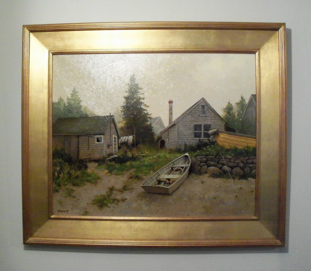 "Harley Bartlett – Oil on Linen – ""Island Haze"" New England Landscape"