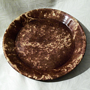 Antique Rockingham - Bennington Pottery Pie Plate - 10""