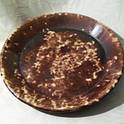 Antique Rockingham - Bennington Pottery Pie Plate - 10 1/4&quot;