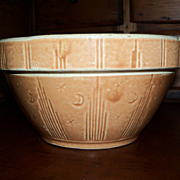 "Pumpkin Glaze Yellow Ware - Moon & Star Bowl 6"" - Watt Pottery"