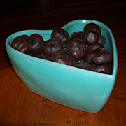 Aqua Glaze - Heart Shape Baking Dish or Candy Dish