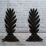Antique Architectural Iron Trim - Palm Tree & Medallion