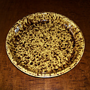 "Rockingham - Bennington Style Pottery - Pie Plate 10 1/8"" - Morton Pottery"