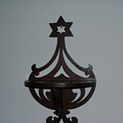 Folk Art Hanging Shelf - Star Design