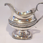 18th Century hand made sterling silver creamer. American or English.