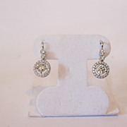 14k white gold & diamond earrings. Very clear diamonds.