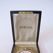 E.Howard gold filled 17 jewels pocket watch. In original Box and paper work.