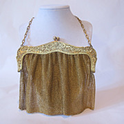 Sterling Silver purse. Gilded and hand made in USA.