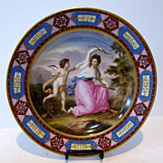 Meissen antique hand painted porcelain plate. Decorated with gold & enamel.