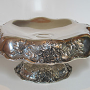 Sterling silver antique hand made large center piece made by Dominick & Haff.
