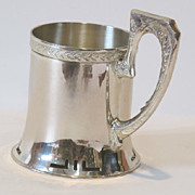 Circa 1900 Russian 84 silver, large glass holder. Open work on the bottom.